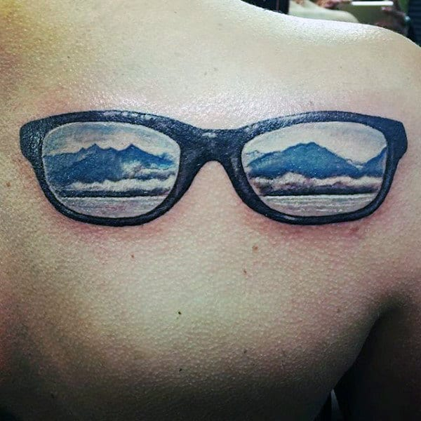 30 Glasses Tattoo Designs For Men - Eye-Catching Ink Ideas