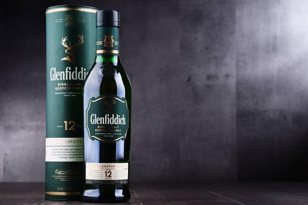 glenfiddich bottle single malt whisky