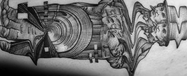 50 Glitch Tattoo Designs For Men – Malfunction Ink Ideas