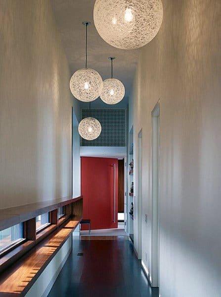 Globe Chandelier Hallway Lighting Design Inspiration