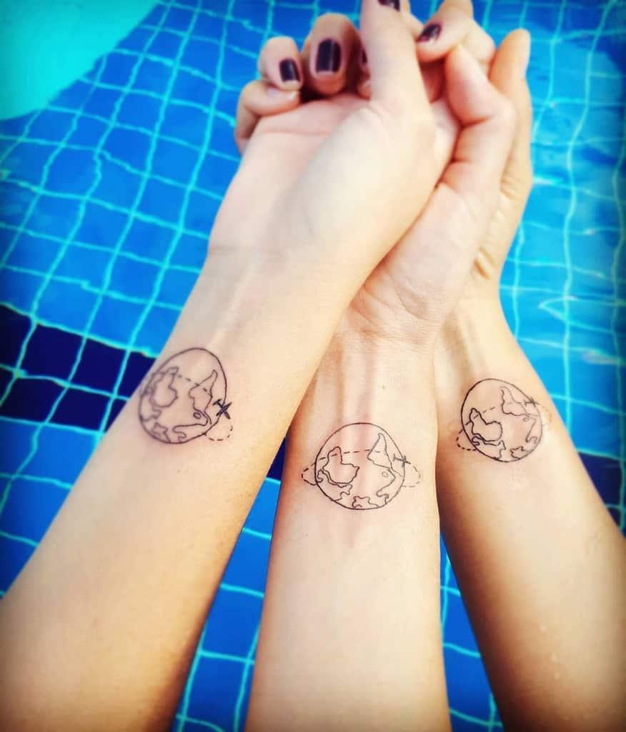 Globe Friendship Tattoo