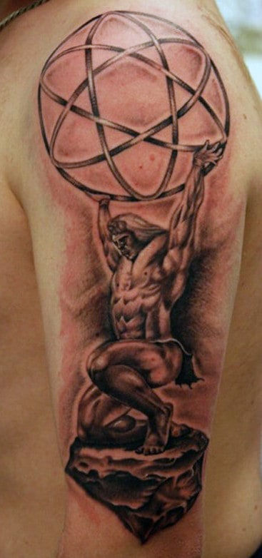 Globe Greek Myth Tattoo For Men
