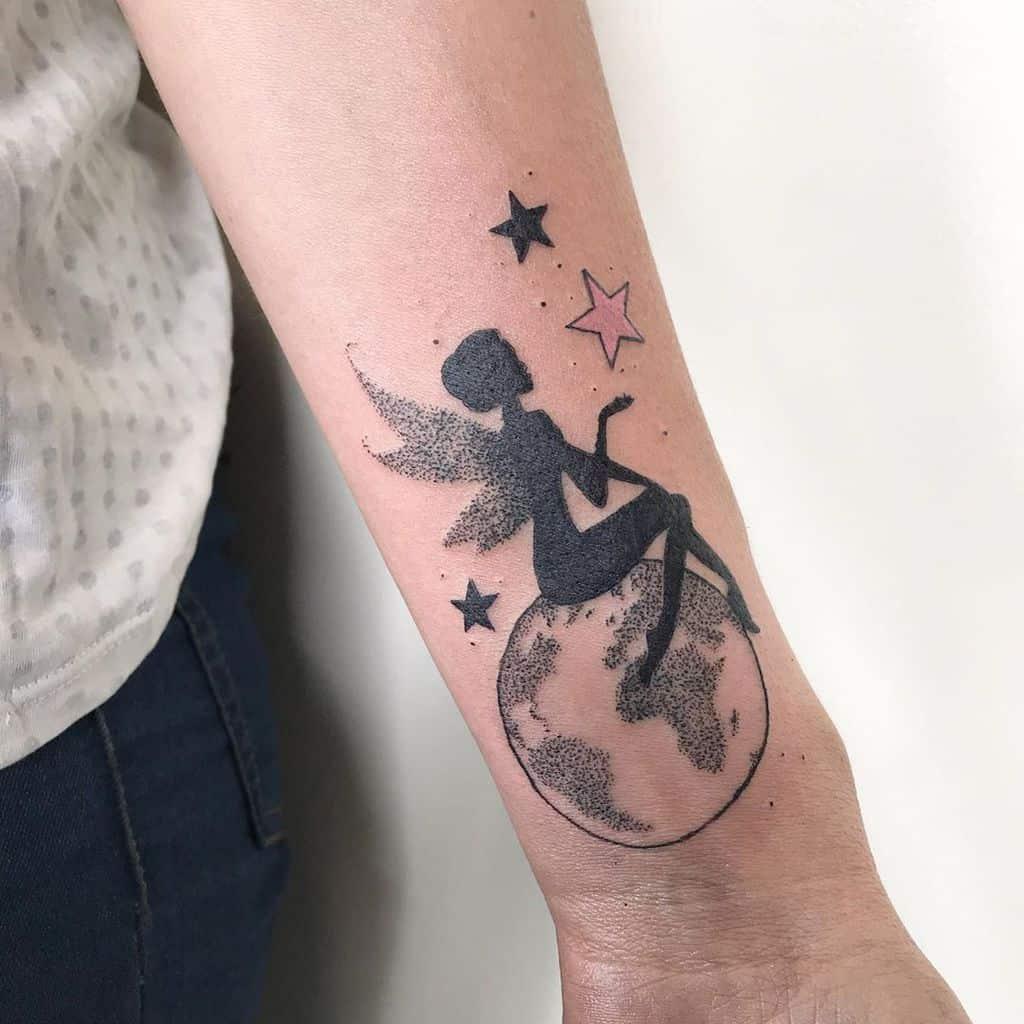 Globe Magic Fairy Tattoo