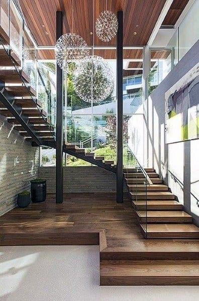 Globe Star Chandelier Foyer Lighting Design Idea Inspiration