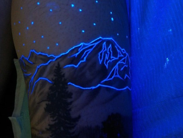 Glow In The Dark Uv Ink Tattoo Style
