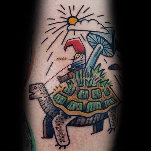 Gnome Tattoo Design Ideas For Men