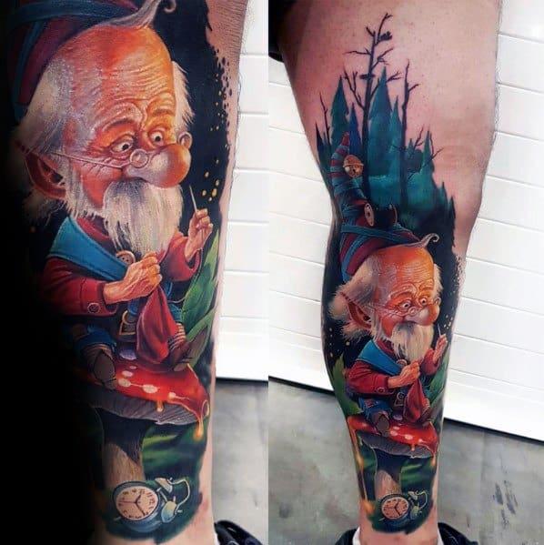 Gnome Tattoo Designs For Gentlemen