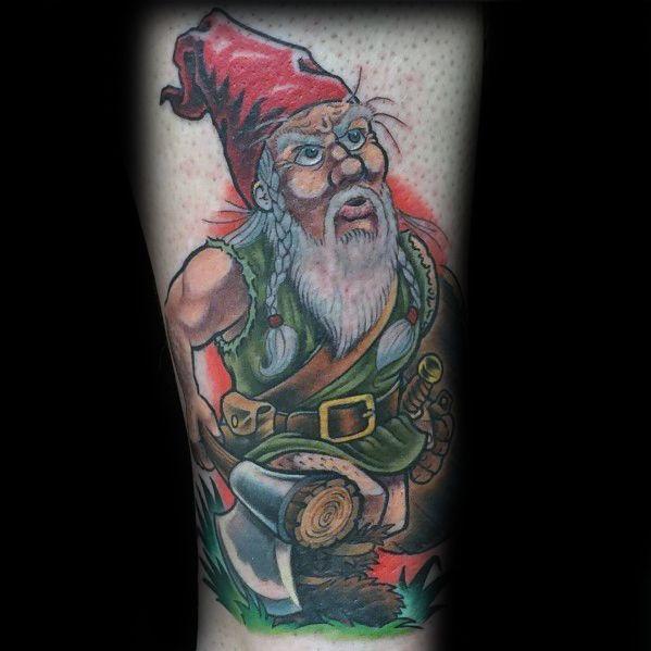 Gnome Tattoo Designs On Men