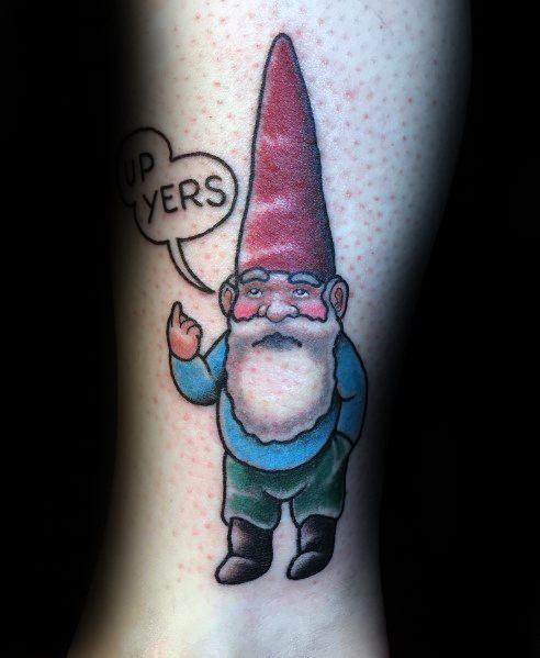 Gnome Tattoo Ideas For Men