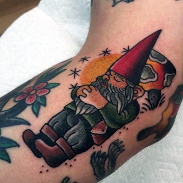 Gnome Tattoo On Man