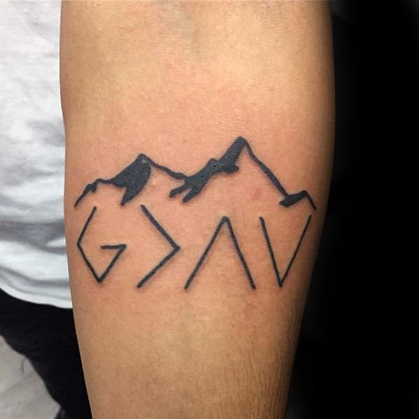 God Is Greater Than The Highs And Lows Tattoos For Gentlemen
