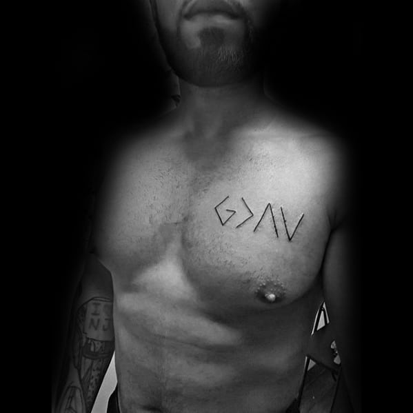 God Is Greater Than The Highs And Lows Tattoos Male Upper Chest