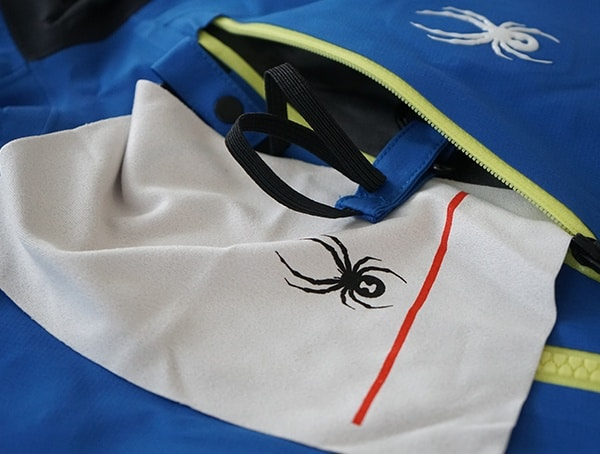 Goggle Cleaning Cloth Pocket Open Spyder Eiger Gtx Shell Jacket