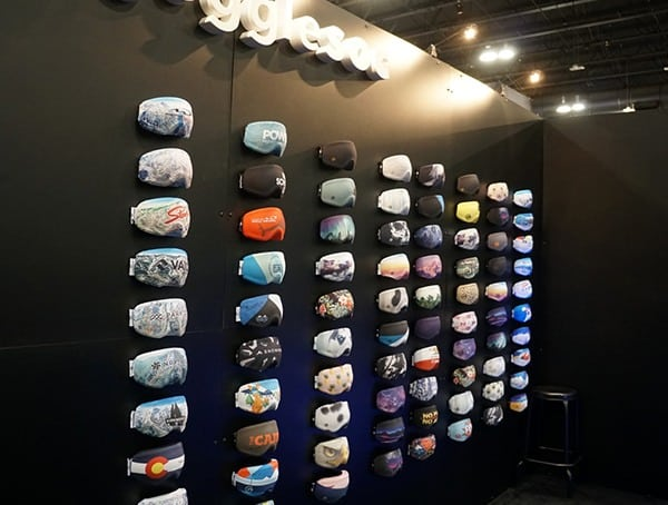 Goggle Socks Covers Outdoor Retailer Winter Market 2018 Display Wall