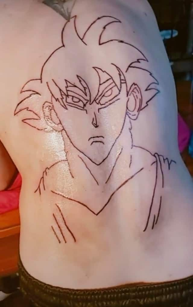 goku tattoo fail