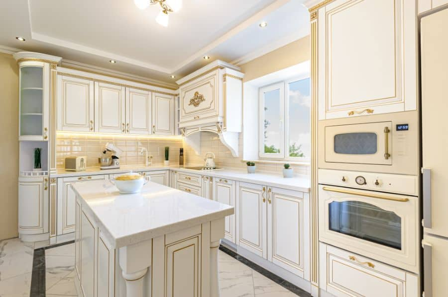 Gold Accent French Country Kitchen 1