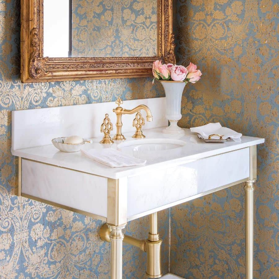 Gold Accent Powder Room Ideas 2 Costachristmedia