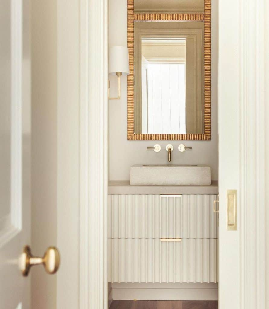 Gold Accent Powder Room Ideas Costachristmedia