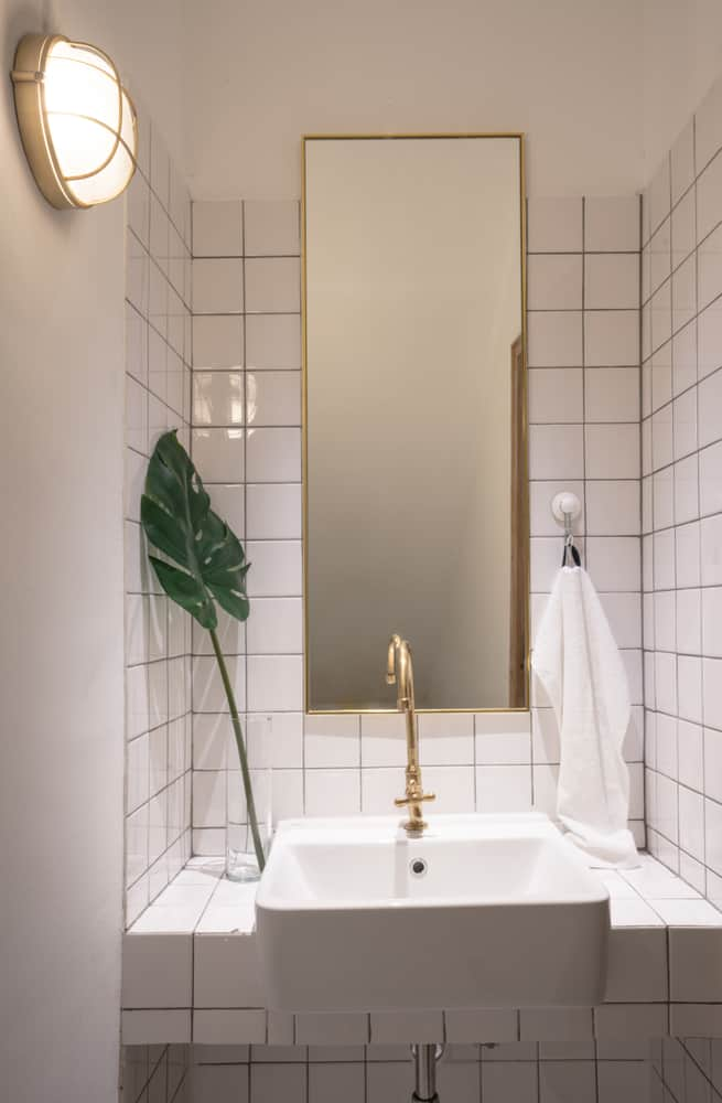 Gold Accent Powder Room Ideas