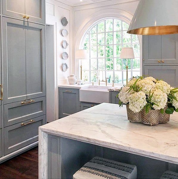 Gold And Grey Painted Large Lamp Interior Kitchen Island Lighting Design