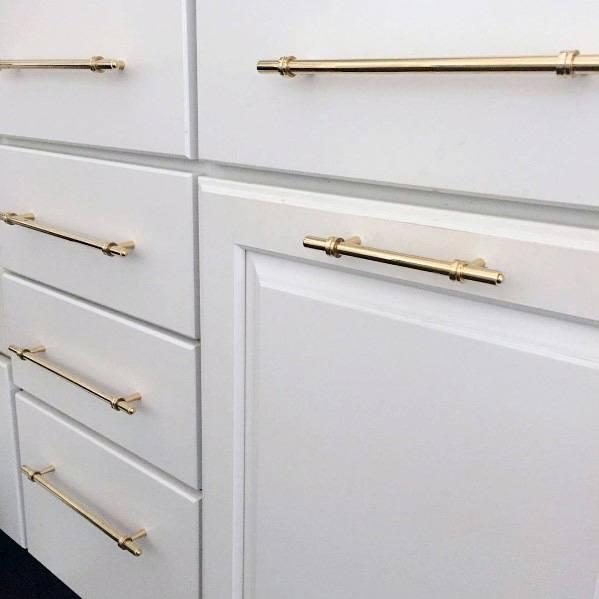 Gold Bar Kitchen Cabinet Hardware Ideas