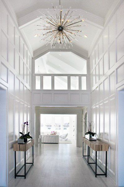 Gold Chandelier Foyer Lighting Ideas