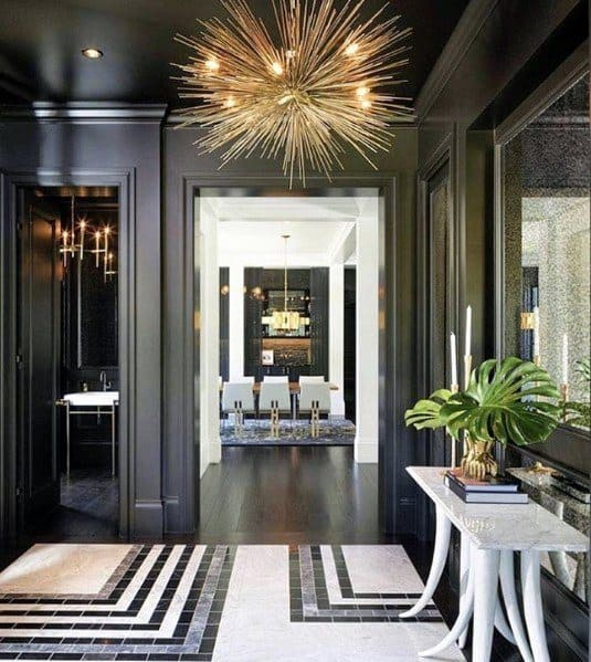 Gold Chandelier Interior Ideas For Foyer Lighting