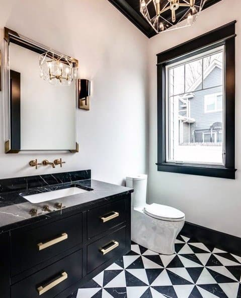 black and white small bathroom tile ideas