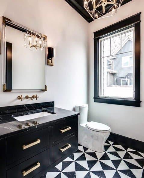 Gold Chandelier Luxury Bathroom Lighting Ideas