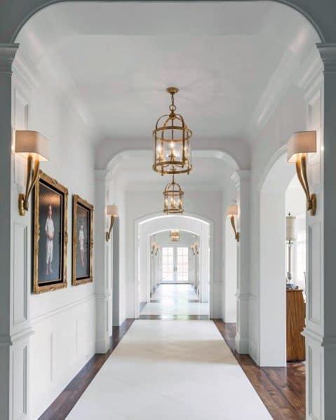 Gold Chandeliers Home Design Ideas Hallway Lighting
