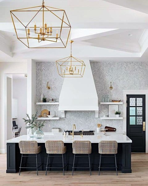Gold Chandeliers Kitchen Ceiling Ideas