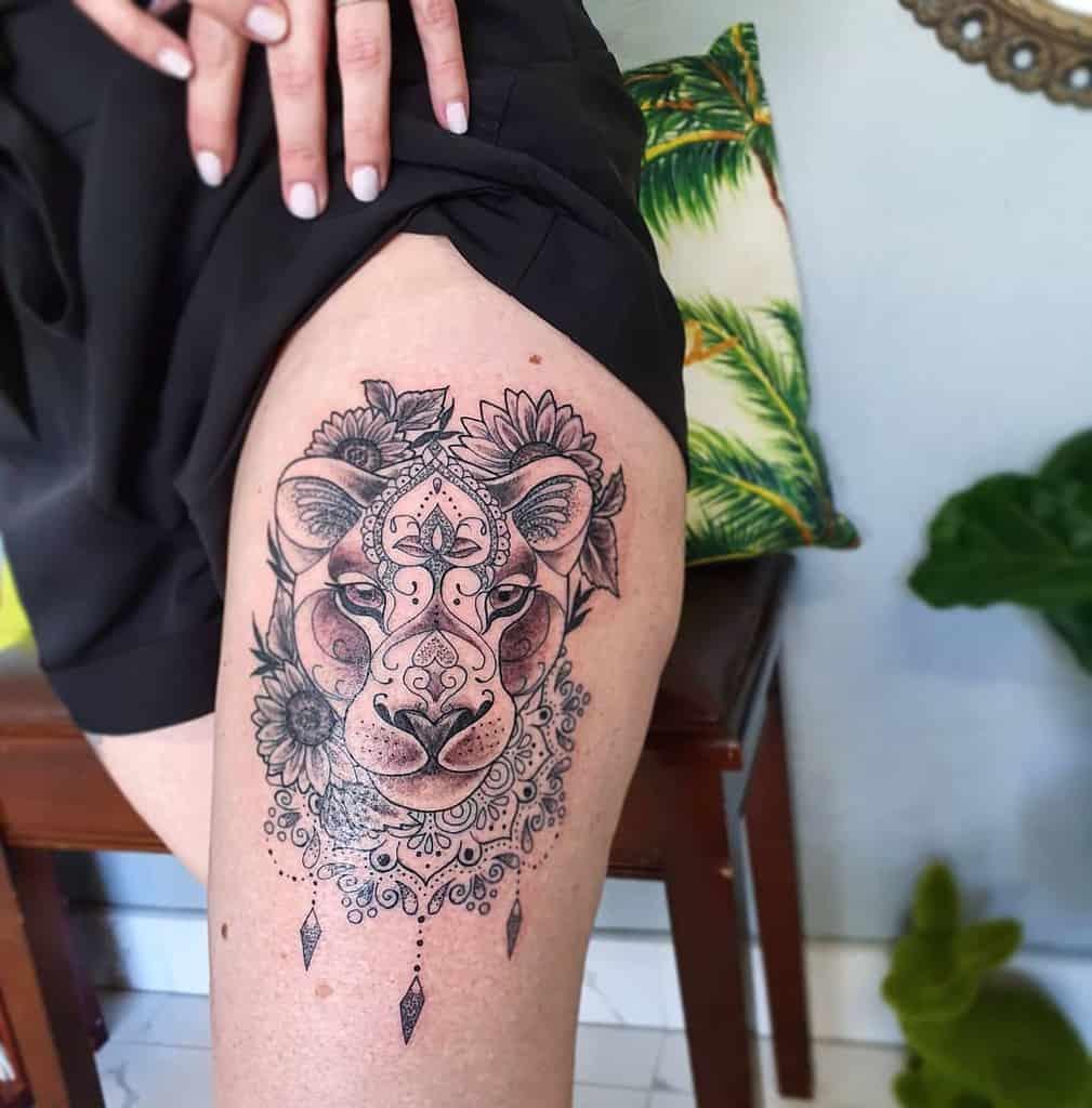 Gold Coast Ink Lion Tattoo