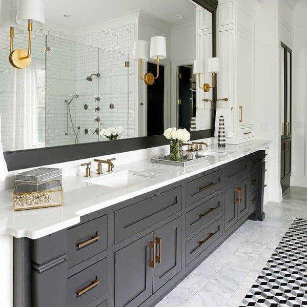 Gold Fixture Ideas For Bathroom Lighting