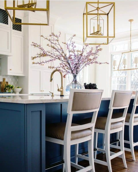 Gold Fixtures Home Kitchen Island Lighting Ideas