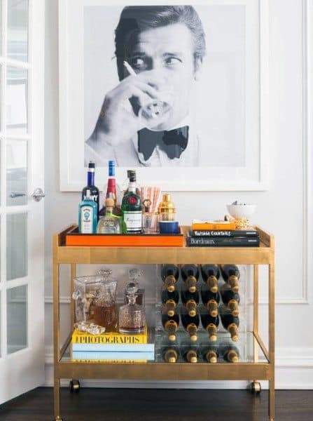 Gold Mini Bar Cart Ideas