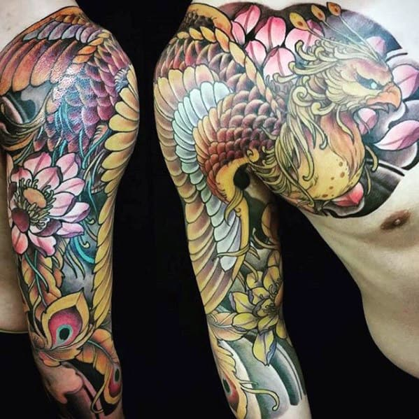 50 Japanese Phoenix Tattoo Designs For Men