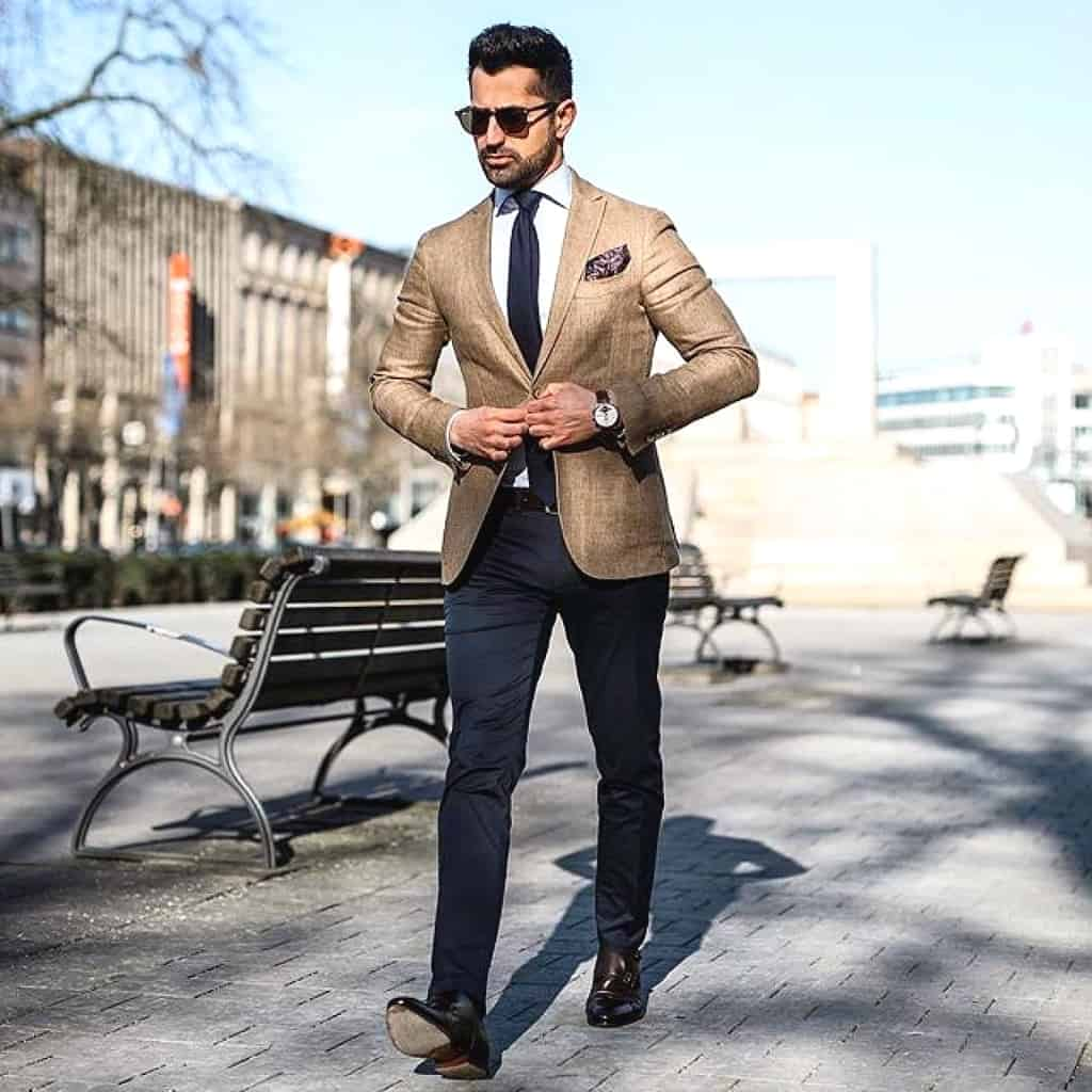 Gold Suit Mens Wear