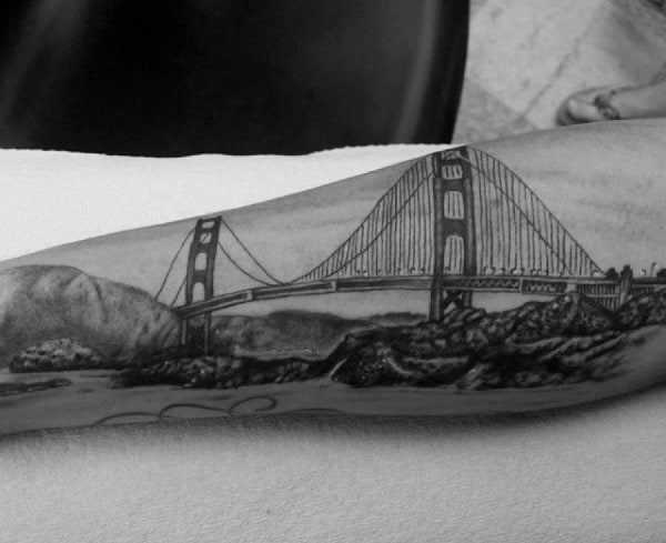 Brooklyn Park Subaru >> 50 Bridge Tattoo Design Ideas For Men - Architectural Ink