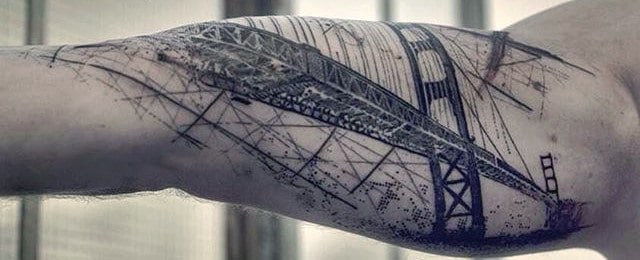 60 Golden Gate Bridge Tattoos For Men – San Francisco Ink Ideas