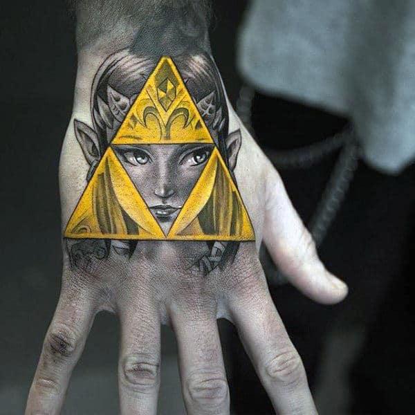 60 Triforce Tattoo Designs For Men - Legend Of Zelda Ink Ideas