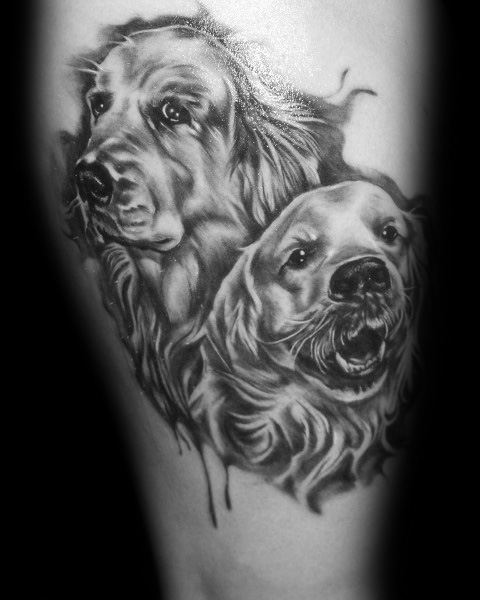 Golden Retriever Guys Tattoo Designs