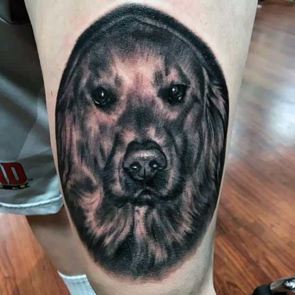 Golden Retriever Tattoo Design Ideas For Men