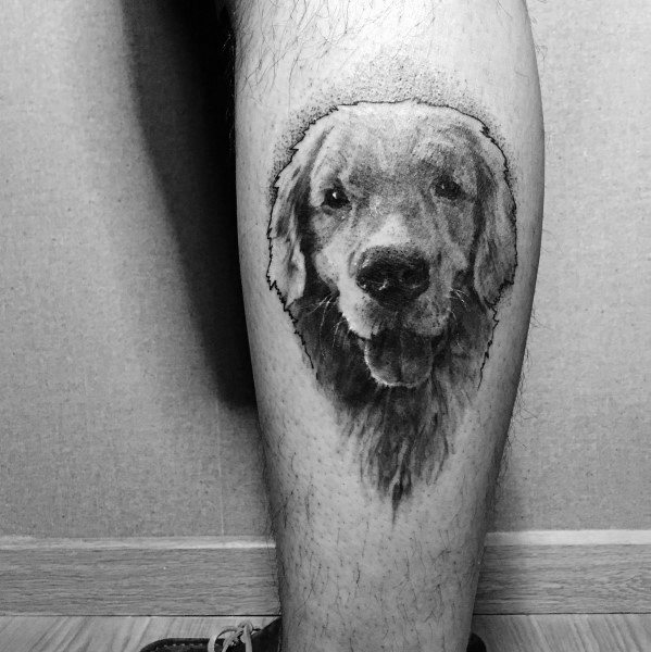 Golden Retriever Tattoo Designs For Men