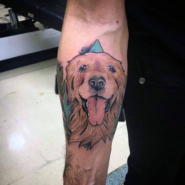 40 Golden Retriever Tattoo Designs For Men Dog Ink Ideas
