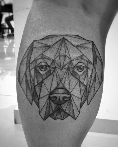Golden Retriever Tattoos For Gentlemen
