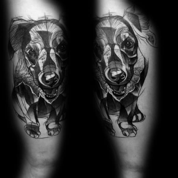 Golden Retriever Tattoos For Men
