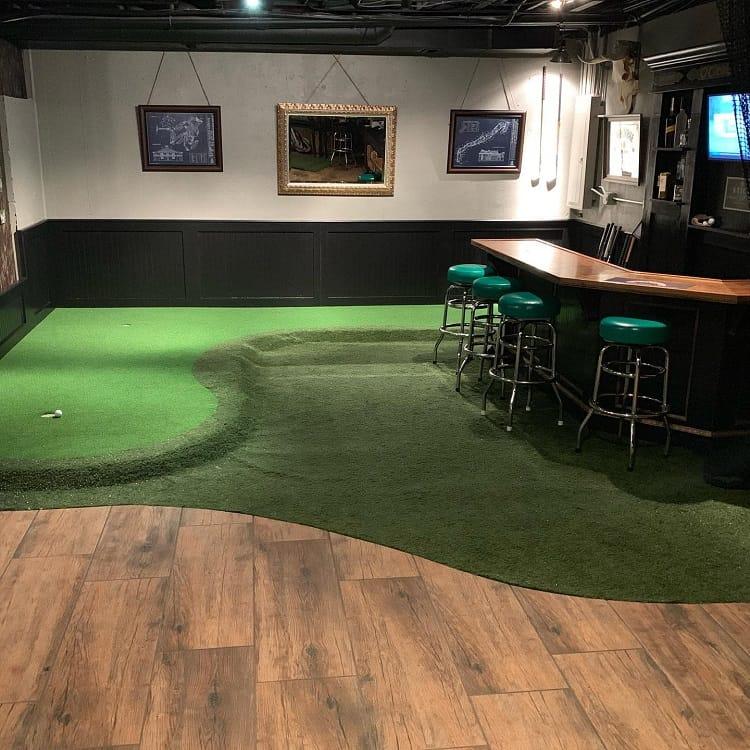 Golf Pingpong Unfinished Basement Ideas