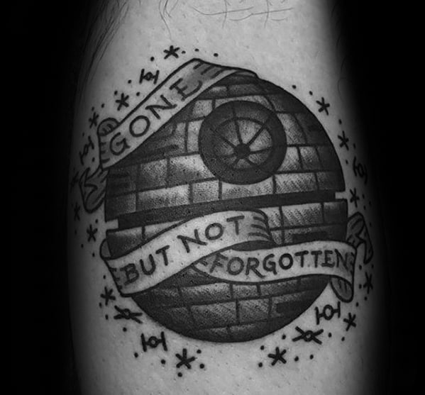 Gone But Not Forgotten Banner Awesome Ink Death Star Arm Tattoos For Men