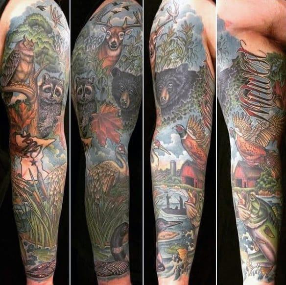 Gone Fishing Men Tattoo