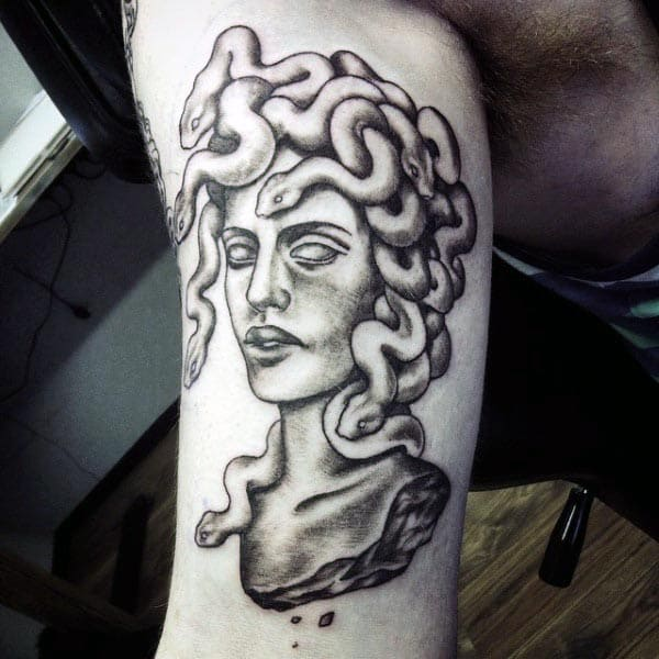 Good Bicep Tattoos For Men Medusa